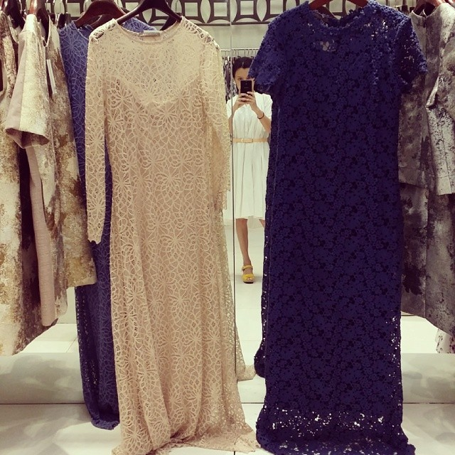 I want. I want. Love these lace long dresses at K & Company!