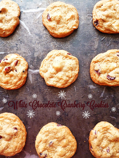 Raspberry Bloom: White Chocolate Cranberry Cookies