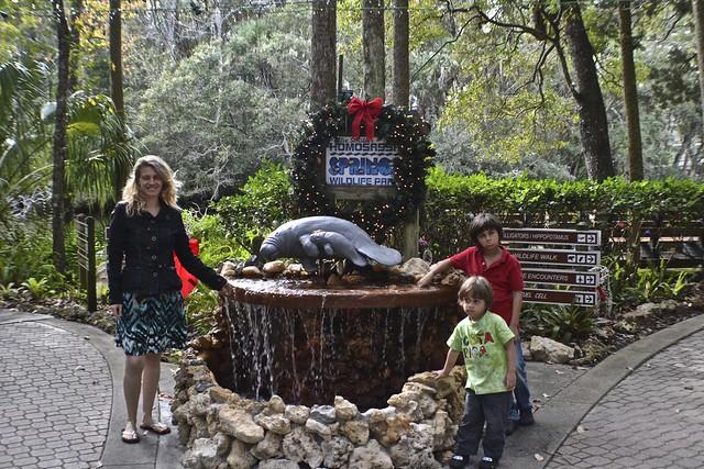 Homosassa Springs, Florida - entrance to the park