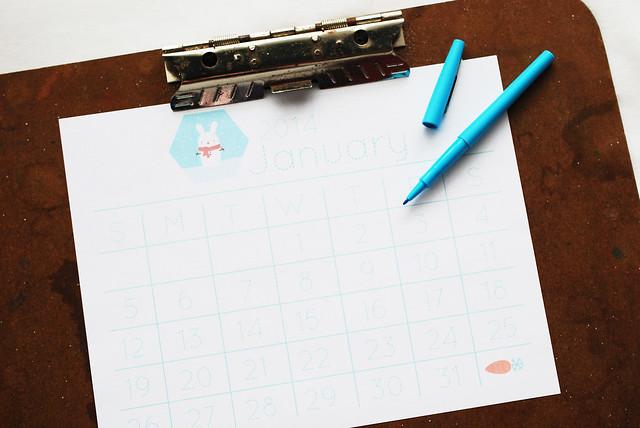 2014 January Printable Calendar Page