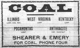 Shearer & Emery ad for coal