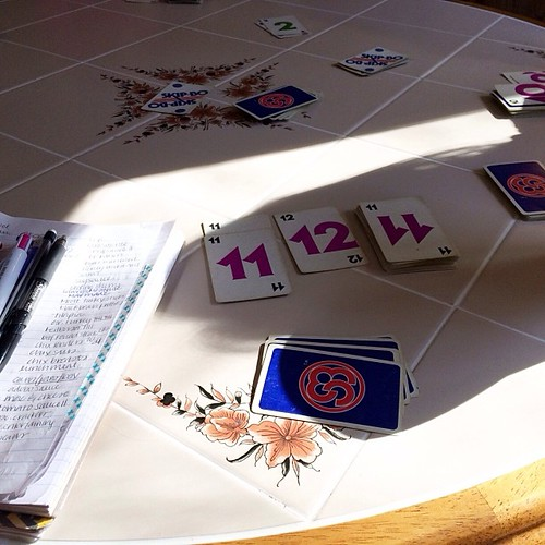 Sunshine, coffee, grocery lists and more Skip-Bo. What Saturday morning is made of.