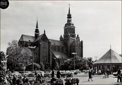 AK Stralsund 1978 Leninplatz mit Marienkirche DDR Vorpommern Pommern Pomerania Pomorze