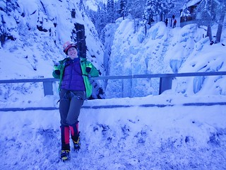 Clare at Ouray Ice Park
