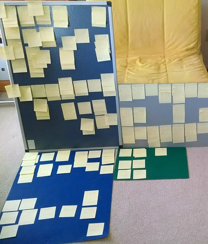 sticky notes for my next novel