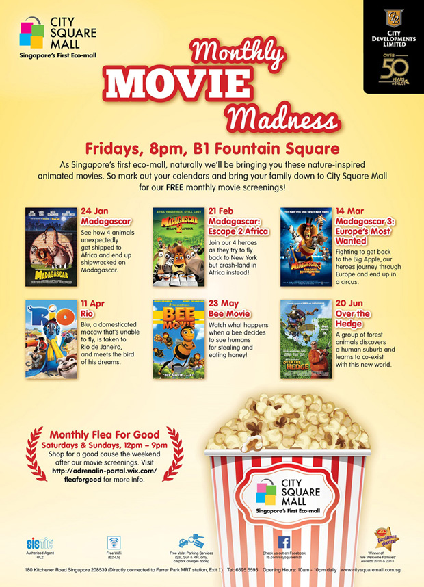 City Square Mall's Free Monthly Movie Madness
