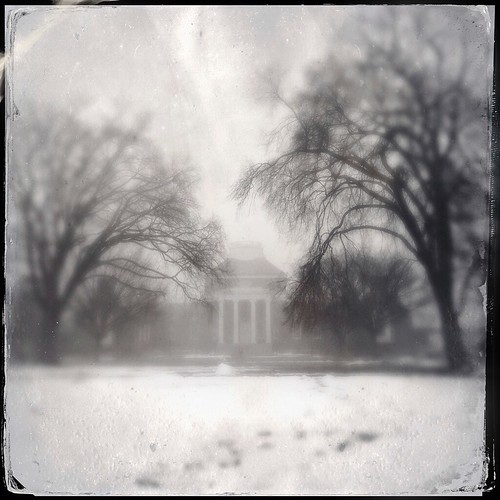 trees winter blackandwhite white snow black texture nature fog architecture square landscape tintype delaware 365 newark baretrees memorialhall universityofdelaware iphoneography hipstamatic iphone5s