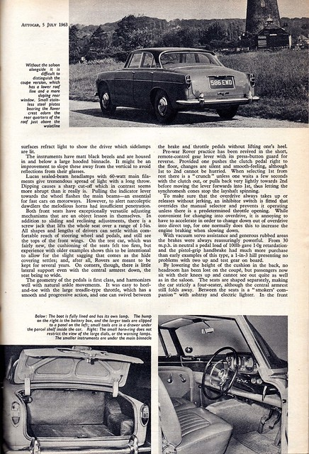 Rover 3 Litre Coupe P5 Road Test 1963 (4)