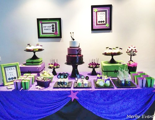 Sweet table Music PArty Merbo Events