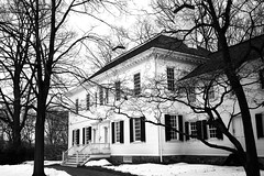 The Ford Mansion in Black and White