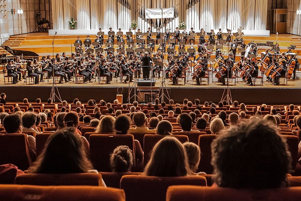 El Camino Youth Symphony performs in the Slovak Radio Hall in Bratislava