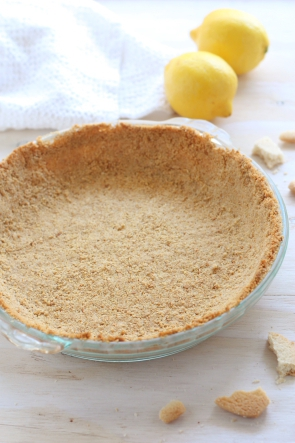 Lemon Mousse Pie with Shortbread Crust from completelydelicious.com
