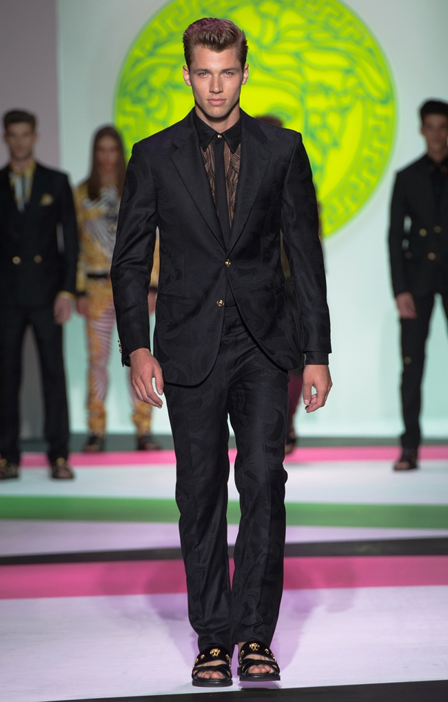 3 VERSACE Men's SS2014_Look 1