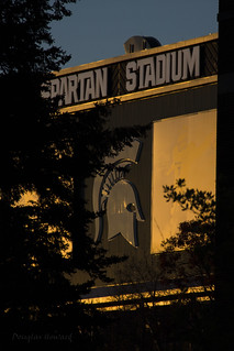 Sunset on Spartan Stadium