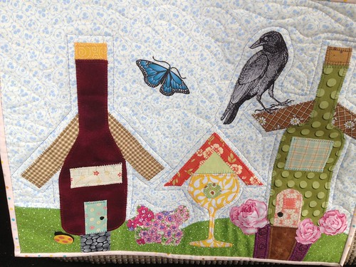 Wine Country quilt for Mini QT swap