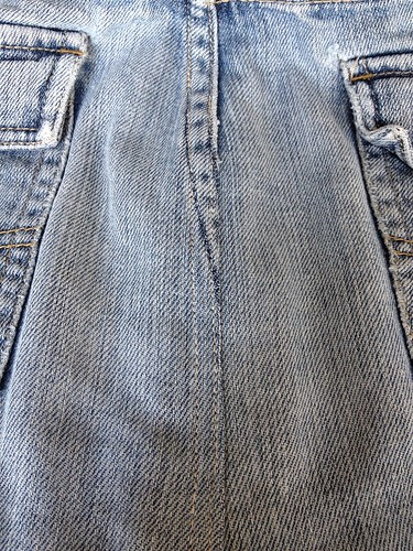 Denim Cut-off Skirt - In Progress
