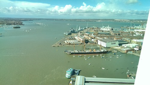 View of the naval dockyard from the Spinnaker