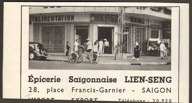 SAIGON PUBLICITE LIEN-SENG ALIMENTATION GENERALE 1953