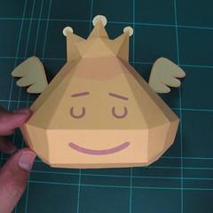 วิธีทำโมเดลกระดาษตุ้กตาสัตว์เลี้ยง หยดทองจากเกมส์ คุกกี้รัน (LINE Cookie Run Gold Drop Papercraft Model - クッキーラン  「黄金ドロップ」 ペーパークラフト) 021