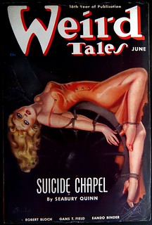 Weird Tales (June,1938).  Cover Art by Margaret Brundage
