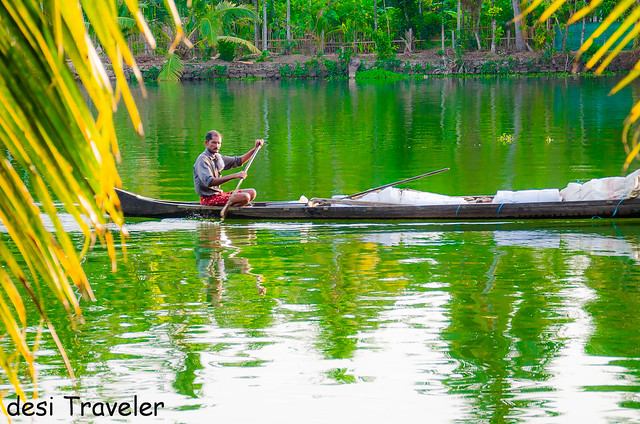 canoe in backwaters