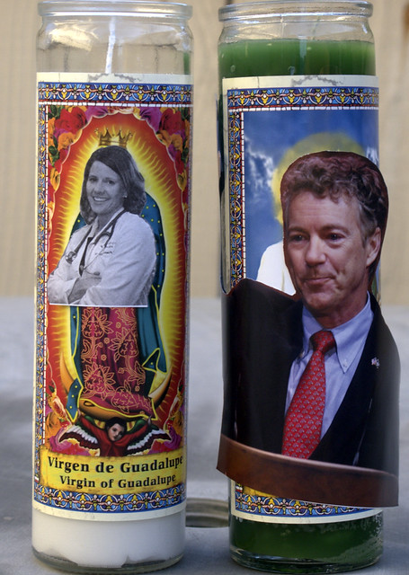 St. Rand Paul the patron saint of junk mail, and our Lady of Blessed Contribution Dr. Annette Bosworth