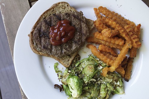 Burger + Sweet Potato Fries