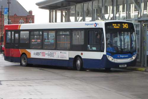 Enviro200 Stagecoach Manchester, MX11 HHF, Oldham bus station