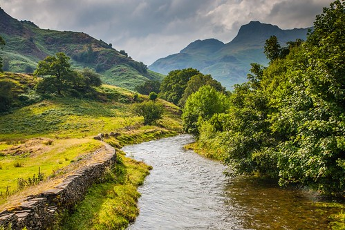 A river runs through it, Great Langdale Valley, Lake District, Cumbria, England ( View Large! )