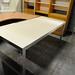 Glass and aluminum desk