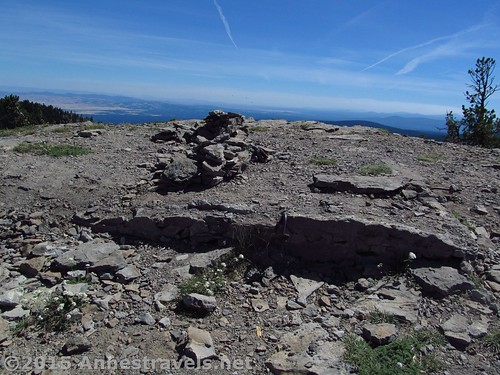 The remains of the fire lookout atop Lookout Mountain, Mount Hood National Forest, Oregon