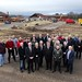 DARD Minister Michelle O'Neill and dFM Martin McGuinness visit the site for DARD's new HQ at Ballykelly