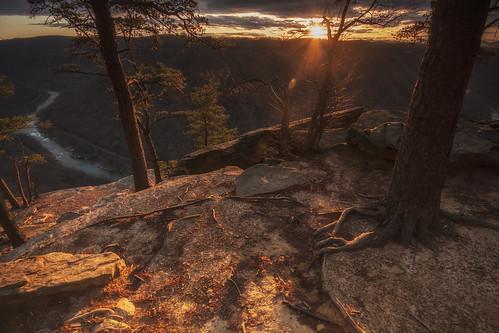 sunset westvirginia newrivergorge