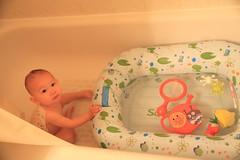 Lulu bathing