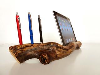 Ipad holder/dock + pen holder