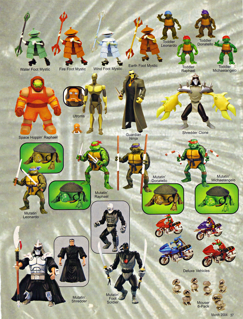 """LEE'S TOY REVIEW #xx, pg. 37 / """"TOY FAIR 2004"""" , 'TMNT - 2k3 Peek'  (( March 2004 )) by tOkKa"""