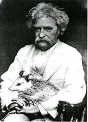 Mark Twain with Opposum