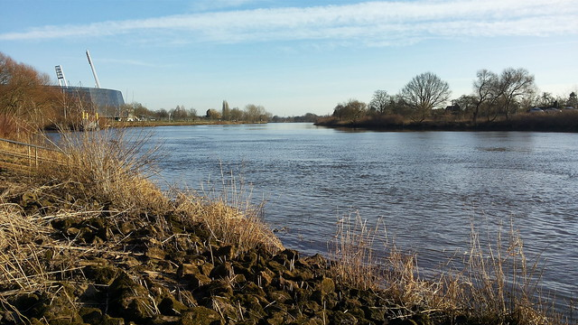 The Weser River in Bremen via No Apathy Allowed