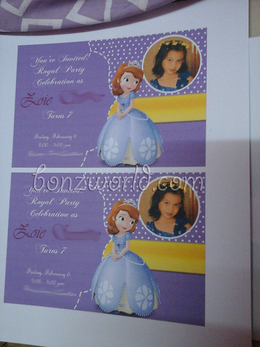DIY Sofia the 1st Printable Invitation