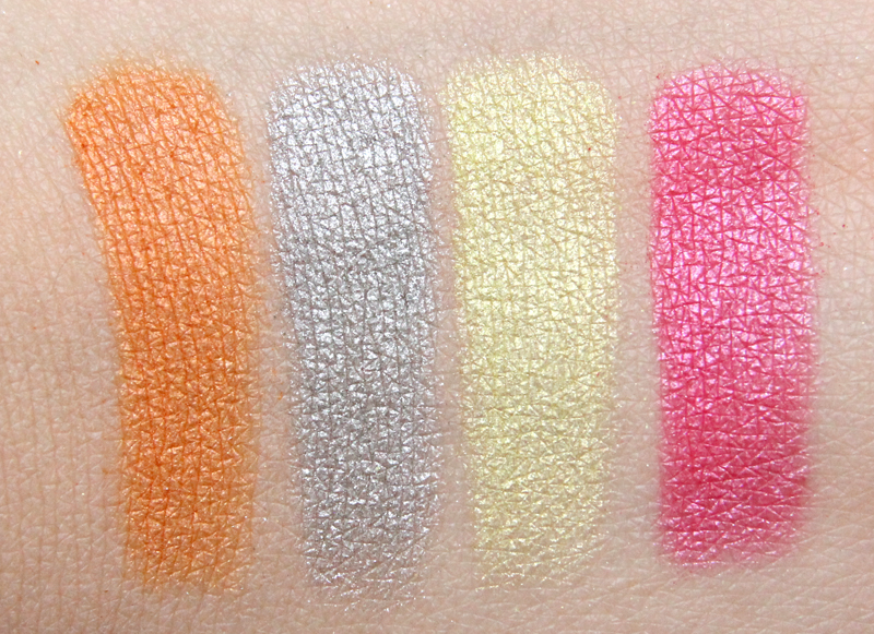 TBS Pink poppy shimmer cubes swatch