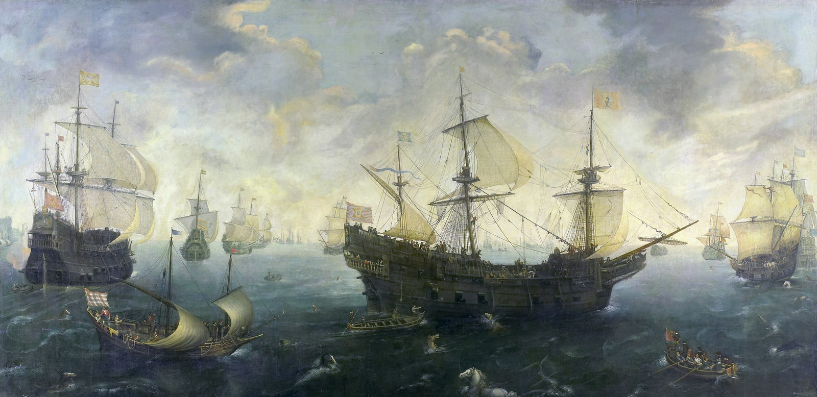 The Spanish Armada off the English coast, by Cornelis Claesz van Wieringen
