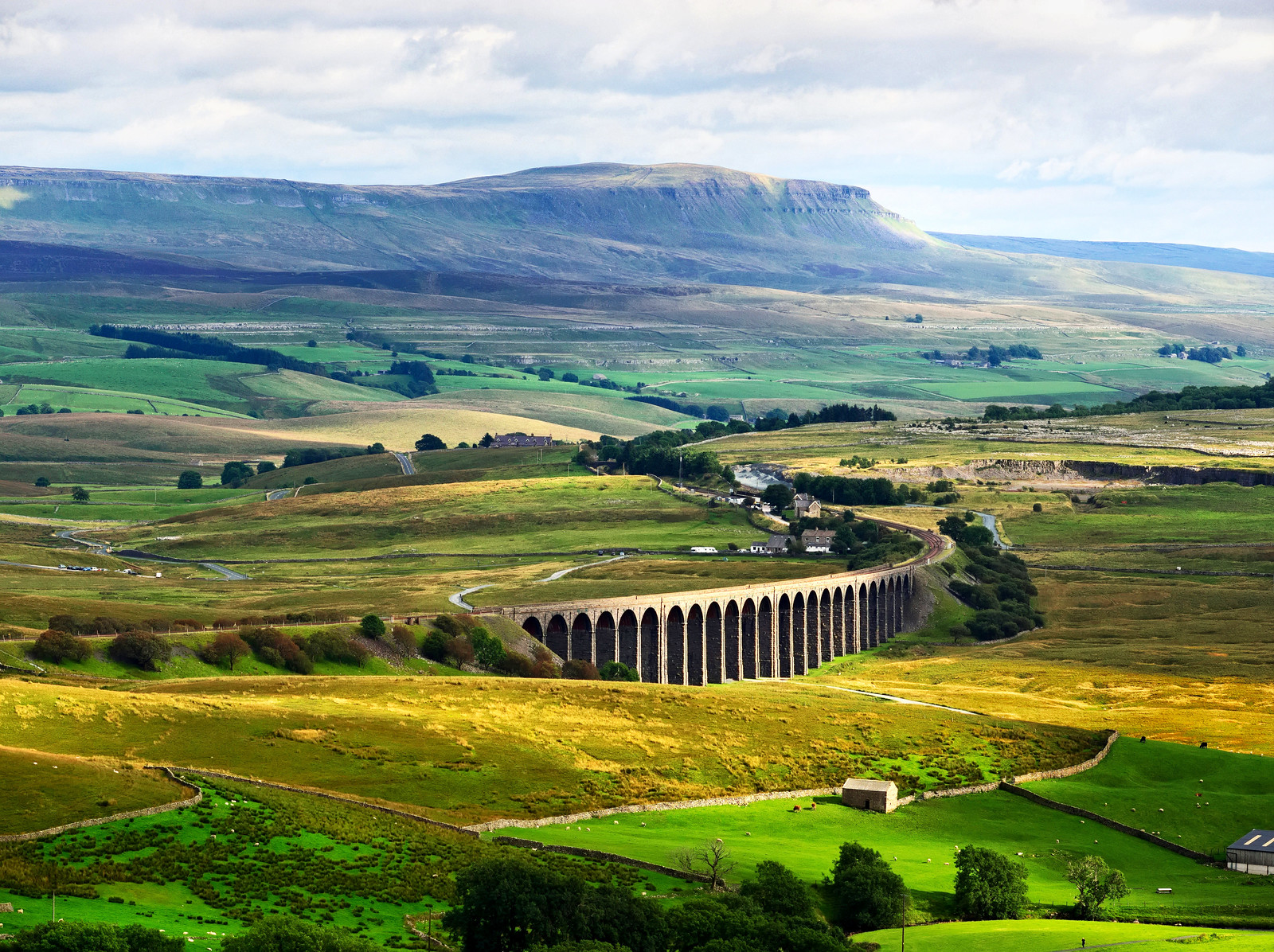 Ribblehead Viaduct crossing Ribbledale
