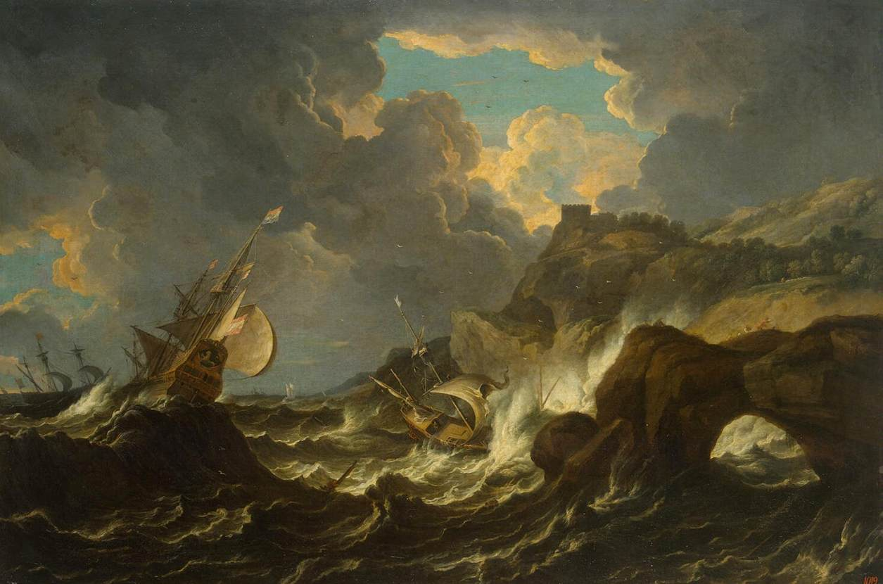 Storm in the Sea by Peter Mulier II