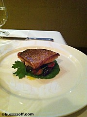 Babbo - Red snapper with a mint pesto sauce and gr…
