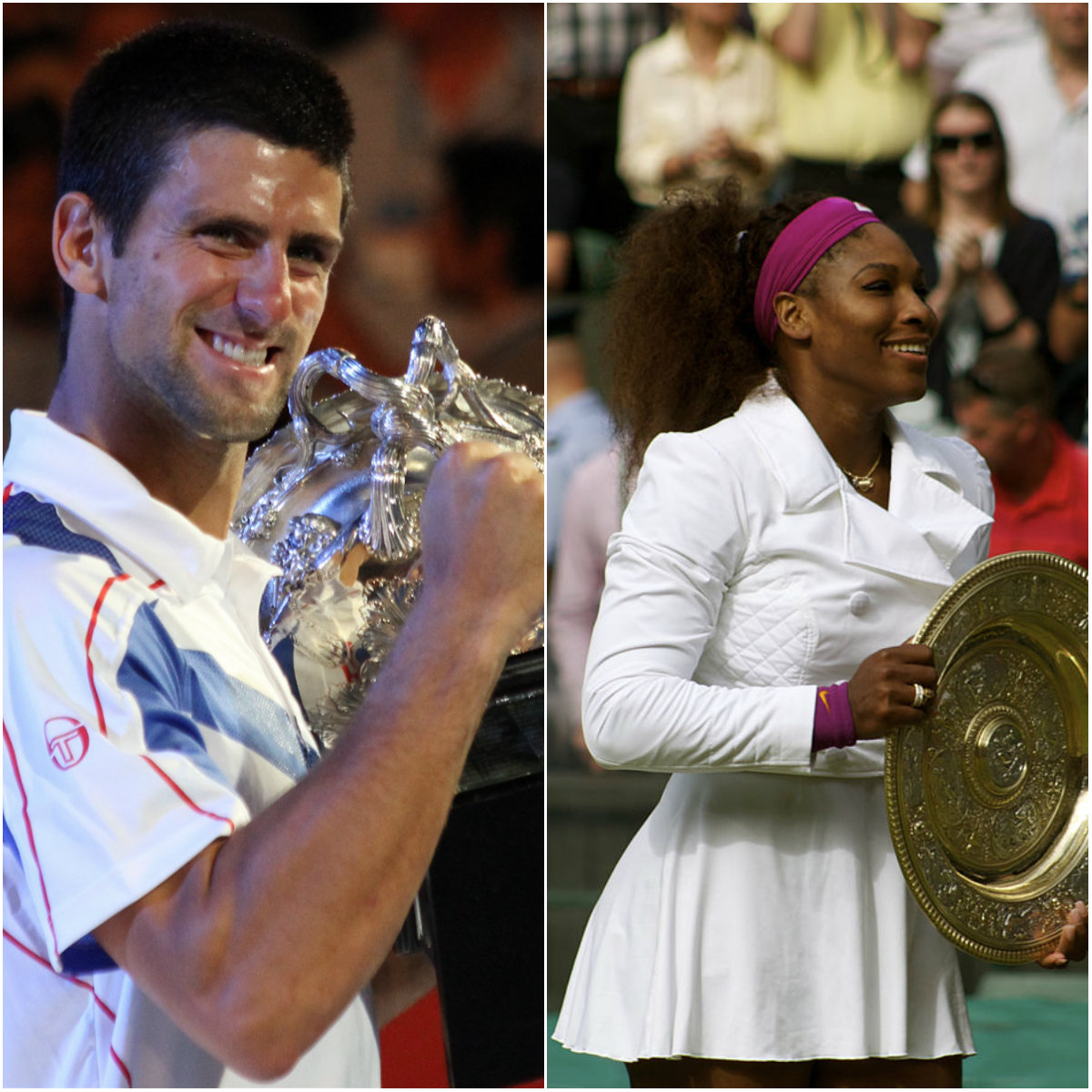 Novak Djokovic and Serena Williams - highest Seeded Players in 2015 and 2016