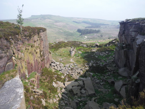 Cleft in Burbage Rocks