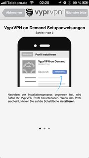 VyprVPN: Konfiguration unter iOS (iPhone)