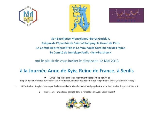 Invitation pour la Journée Anne de Kyiv 12 MAI