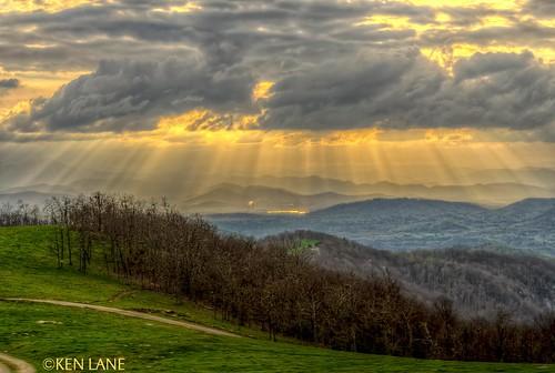 sunset cloud clouds nikon northcarolina nikkor sunrays crepuscular dx apsc cloudyevening bearwallowmountain cropsensor d7000 nikond7000