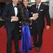 Stephen Mangan, Tamsin Greig and Matt Le Blanc by baftaimages